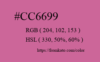Color: #cc6699