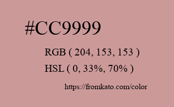 Color: #cc9999