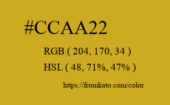 Color: #ccaa22
