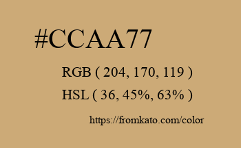 Color: #ccaa77