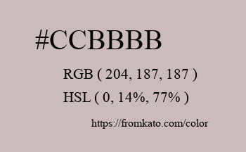 Color: #ccbbbb