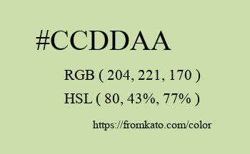 Color: #ccddaa