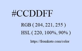 Color: #ccddff