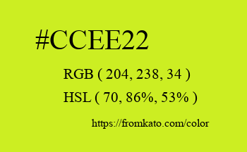 Color: #ccee22