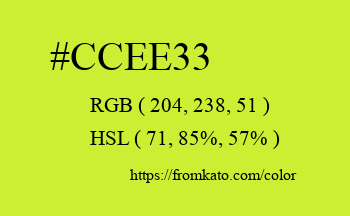 Color: #ccee33