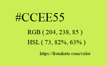 Color: #ccee55