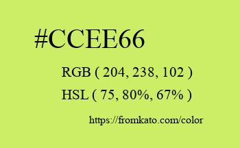 Color: #ccee66
