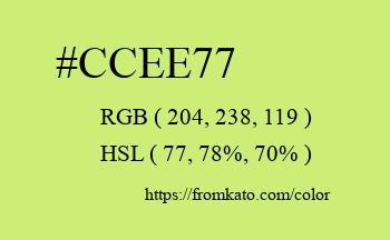 Color: #ccee77