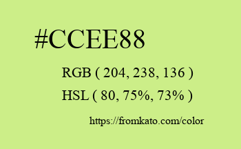 Color: #ccee88
