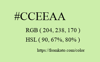 Color: #cceeaa