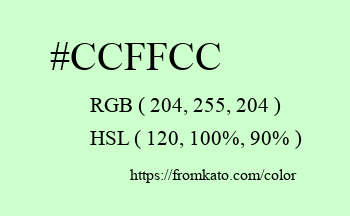 Color: #ccffcc