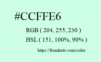 Color: #ccffe6