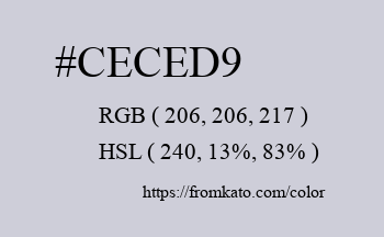 Color: #ceced9