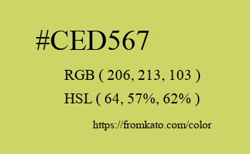 Color: #ced567