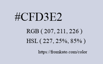 Color: #cfd3e2