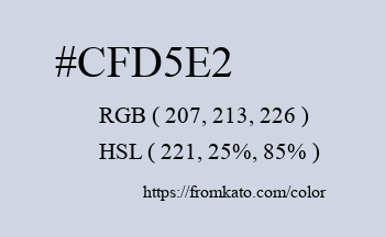 Color: #cfd5e2