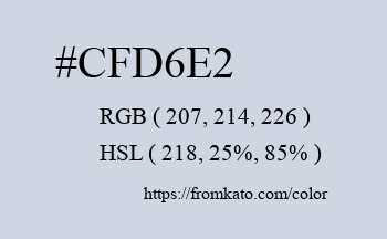 Color: #cfd6e2