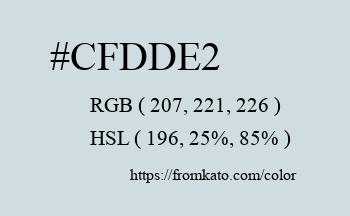 Color: #cfdde2