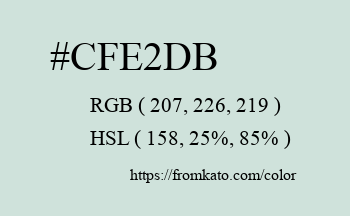 Color: #cfe2db
