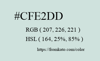 Color: #cfe2dd