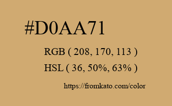 Color: #d0aa71