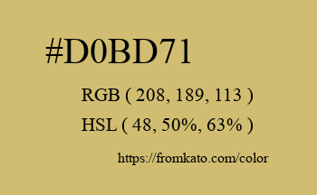 Color: #d0bd71