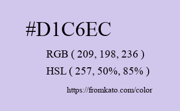 Color: #d1c6ec