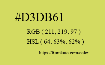 Color: #d3db61