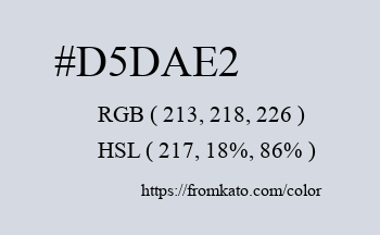 Color: #d5dae2