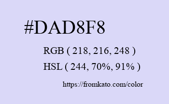 Color: #dad8f8