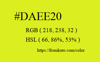 Color: #daee20