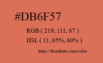 Color: #db6f57