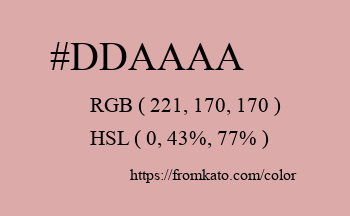 Color: #ddaaaa