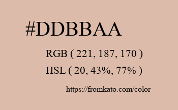 Color: #ddbbaa