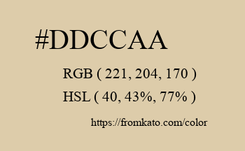 Color: #ddccaa