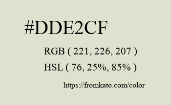 Color: #dde2cf