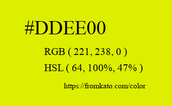 Color: #ddee00