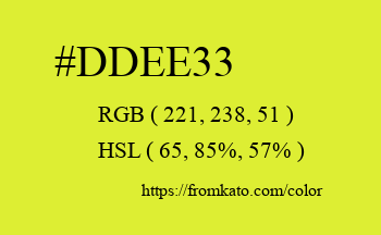 Color: #ddee33
