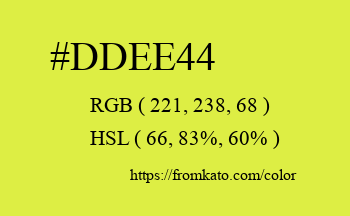 Color: #ddee44