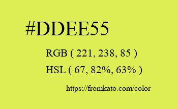 Color: #ddee55