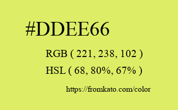 Color: #ddee66