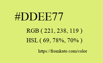 Color: #ddee77