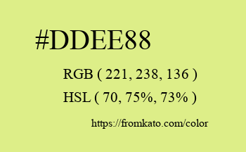 Color: #ddee88