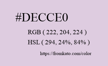 Color: #decce0