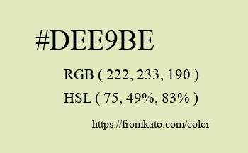 Color: #dee9be