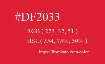 Color: #df2033