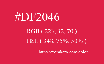 Color: #df2046