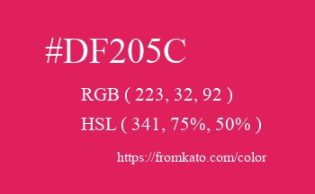Color: #df205c