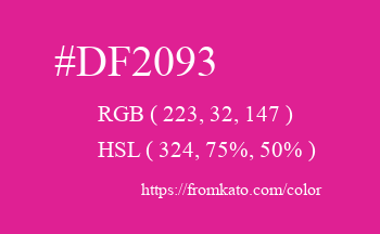 Color: #df2093