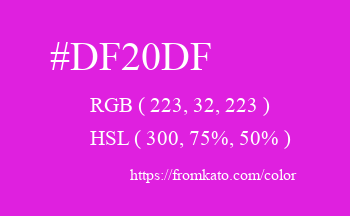 Color: #df20df